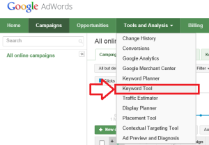 Google keywords search tool