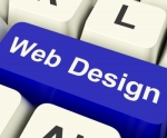 Web Design Button on Keyboard