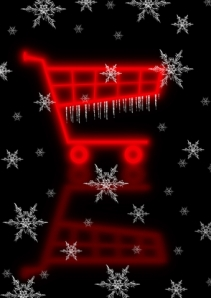 Chritmas shopping trolley