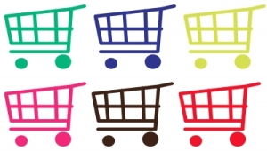 online hopping cart icons