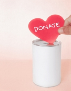 online donation, donating online