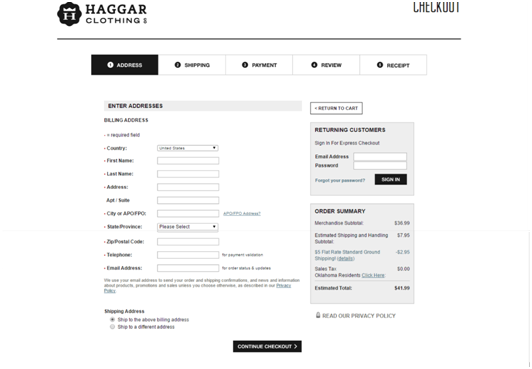 Haggar Check Out