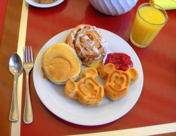 Mickey Mouse pancakes at a Disney park resort