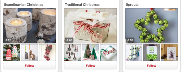 notonthehighstreet pinterest christmas board
