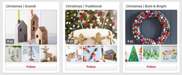pinterest christmas boards