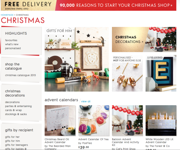 online christmas sales