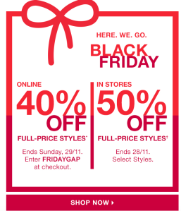 Black friday email promotions